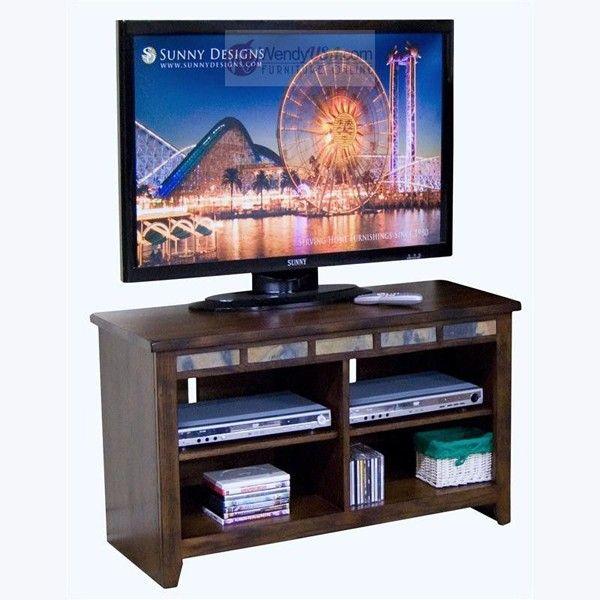 """Sunny Designs - Oxford Dark Oak 42"""" TV Console - 3398DO-42"""