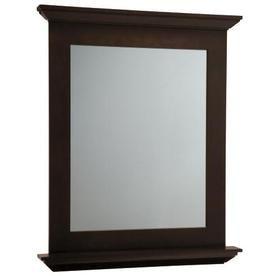 Allen Roth Palencia 34 In H X 30 W Espresso Rectangular Bathroom Mirror