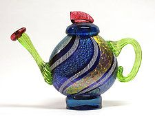 Art Glass Teapot by Ken Hanson and Ingrid Hanson
