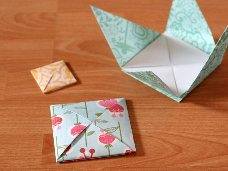 How to fold a square origami envelope