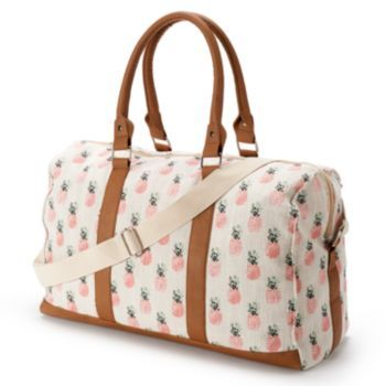 Candie's+Pineapple+Overnighter+Duffel+Bag+