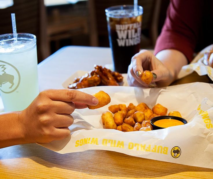 """Dear fried Cheese Curds, you had us at """"fried."""" http://www.pinterest.com/TakeCouponss/buffalo-wild-wings-coupons/"""
