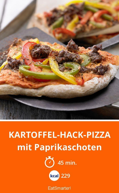 Kartoffel-Hack-Pizza - mit Paprikaschoten - smarter - Kalorien: 229 Kcal - Zeit: 45 Min. | eatsmarter.de
