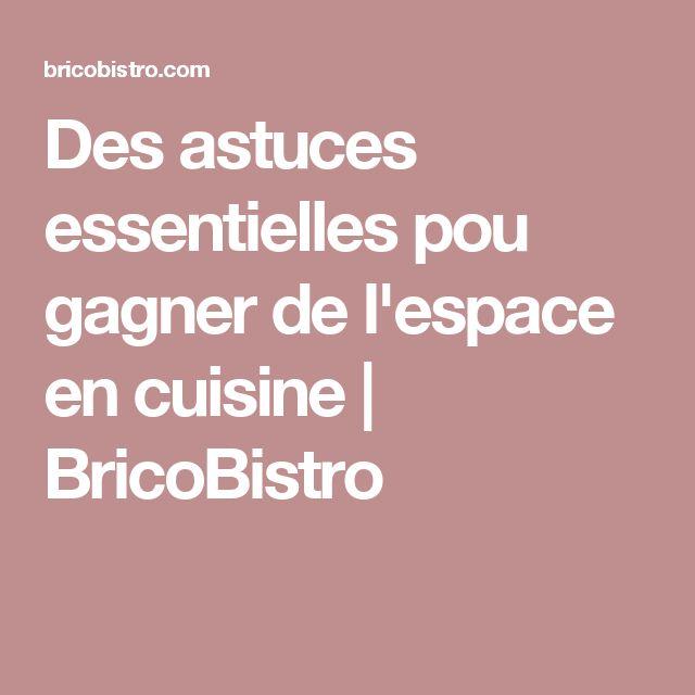 Des astuces essentielles pou gagner de l'espace en cuisine   BricoBistro