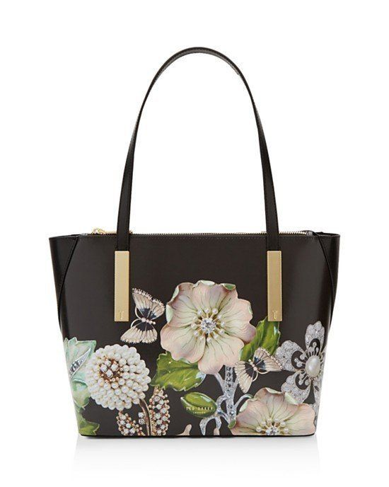 Ted Baker Gem Gardens Agatha Small Tote Black/Gold $195 FREE SHIPPING OR PICK UP, 🌴 (ELSEWHERE $220+) 🌴 BUY AT OUR WILDWOOD LOCATION OR WE SHIP FREE WORLDWIDE! VISIT OUR WEBSITE: ShopAtWaves.Com
