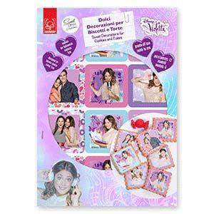 Violetta : Vestibiscotti in pasta di zucchero Violetta Modecor 12pz