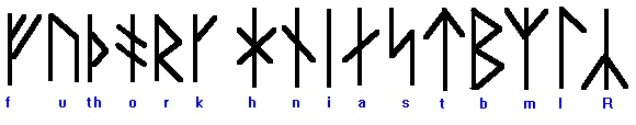 The futhork runic alphabet (so called for the sounds of the first six letters in the alphabet) was in wide use throughout northern Europe from roughly the 3rd to the 12th century. At first, 24 letters were used, but in the 9th century, the futhork alphabet was simplified to 16 letters, beginning in Denmark, then spreading throughout the region. Many variations of the futhork alphabet were used; one of the Danish variants is shown above.