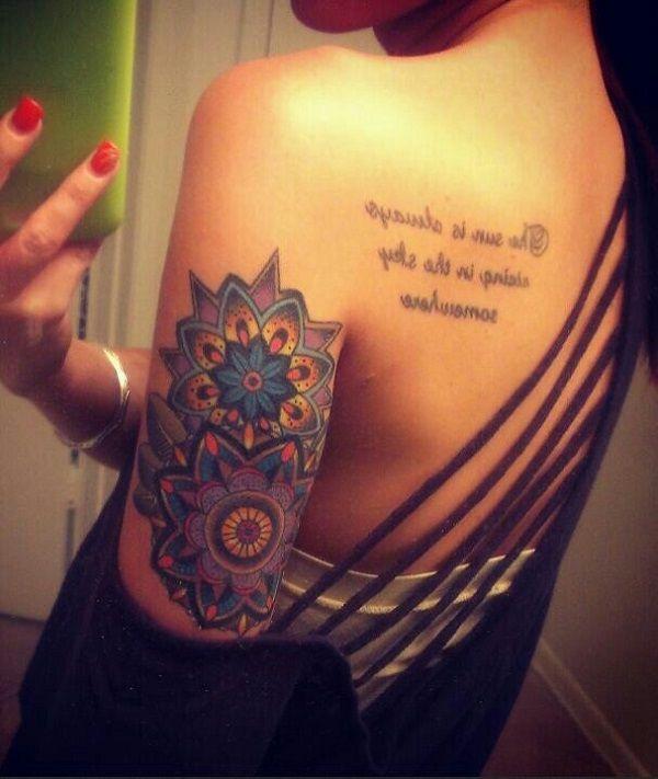 Best 25 colorful mandala tattoo ideas on pinterest for Mandala hip tattoo
