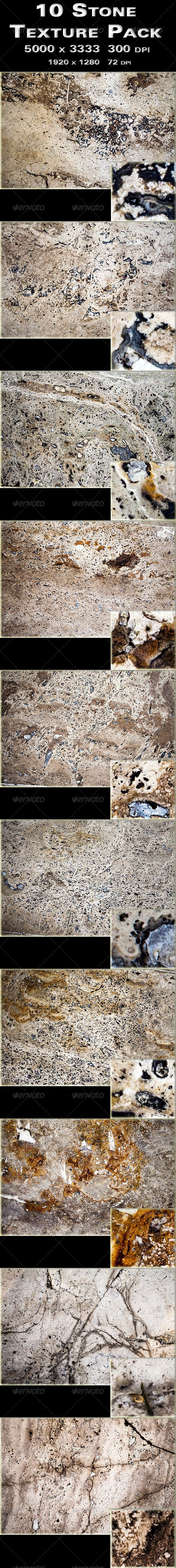 10 Stone Texture Pack #GraphicRiver 10 Stone Texture Pack Zip File contains: -10 Stone Texture Pack: 5000×3333 300 DPI -10 Stone Texture Pack ( Easy to use as a Website background ) : 1920×1280 72 DPI Use that Pack in your own design, in web sites, backgrounds, textures, posters, flyers, cards, booklets, brochures, artworks, blogs, any kind of presentations & promotions, screensaver, wallpapers. You can contact me If you need any help or any special texture pack Please rate:) Please share…