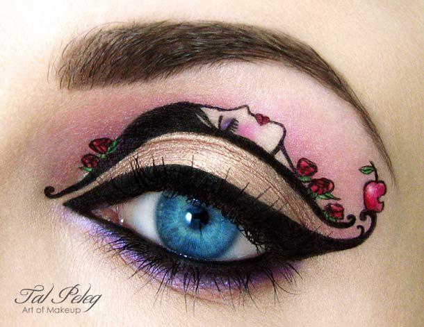 Une sélection des maquillages des yeux créatifs de Tal Peleg, aka Scarlet Moon, une artiste israélienne  inspirés des contes de fées