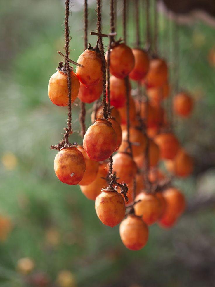 Japanese dry persimmons, Hoshi-gaki 干し柿