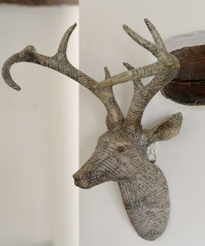 papered stag head by the forest & co   notonthehighstreet.com