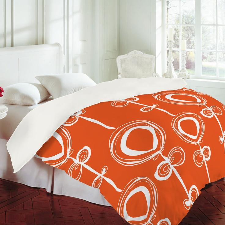 Rachael Taylor Contemporary Orange Duvet Cover