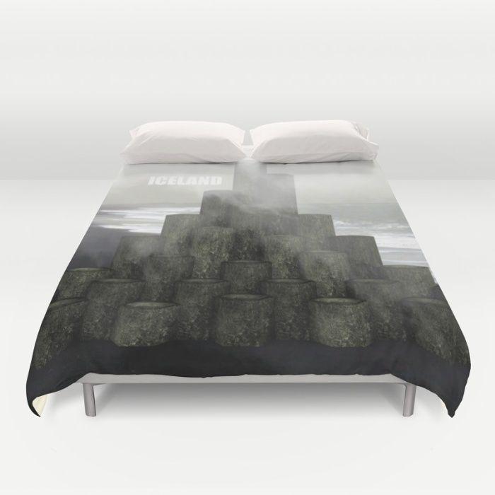 Shades of grey from Iceland Duvet Cover  #art #design #interior #throwpillow #iceland #fog #black #white #grey #shades #homedecor #interiordesign
