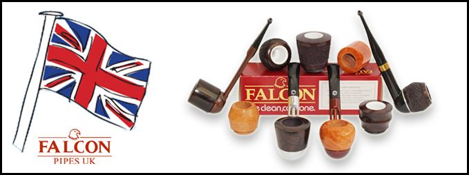 Falcon pipes are best known for there 100's of different stem, bowl & mouthpiece combinations to create your perfect pipe. One of the many benefits to owning a falcon pipe is the fact you can have 2 or 3 interchangeable bowls whilst using only the one stem, which allows you to smoke different tobaccos in different bowls and allows the briar to rest between smokes. The Falcon pipe is easy going on the pocket too but guarantees to deliver a top quality smoke every time…