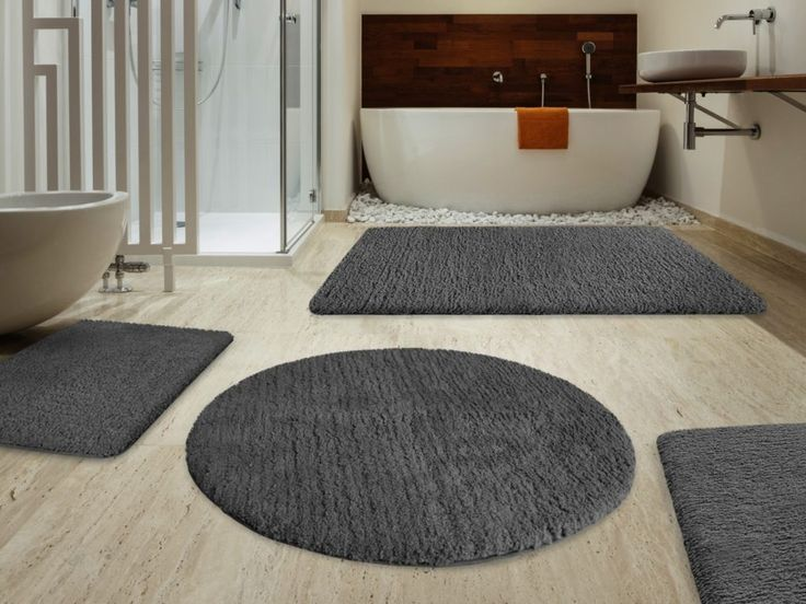 Light Gray Bath Rug Set