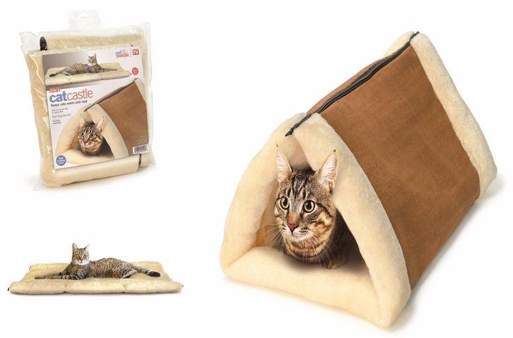 Cat Скрытие замок Кровать Кондо Bed Pet дом Мат Подушка Kitty Shack Snuggle Tube | eBay