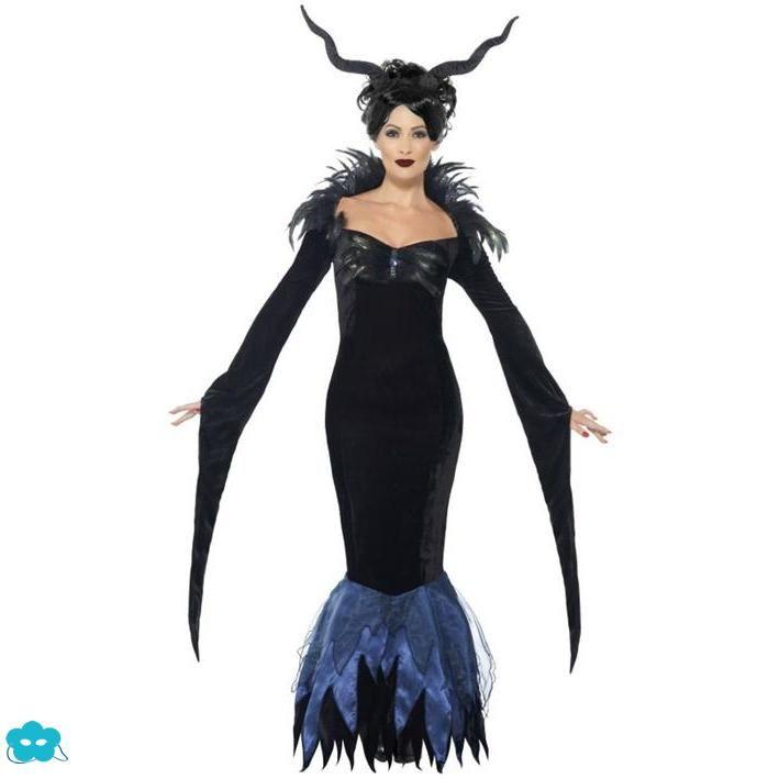 Disfraz de cuervo negro para mujer