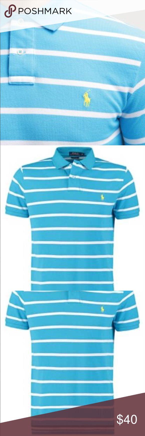 NEW Polo Ralph Lauren XXL 2XL Shirt Striped Brand New w/Tags Polo Shirt - Polo Ralph Lauren with Yellow Pony / Rider Polo by Ralph Lauren Shirts Polos