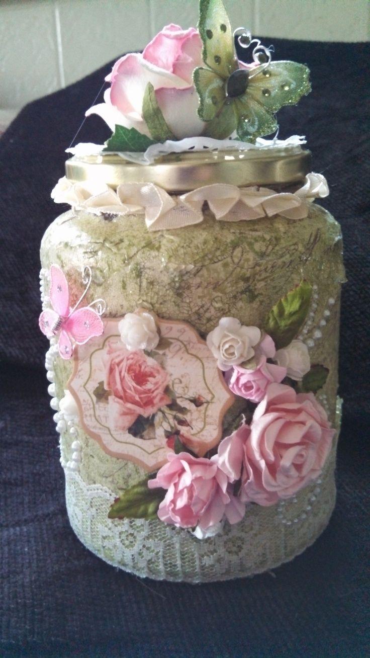 Altered Glass Jar - Scrapbook.com