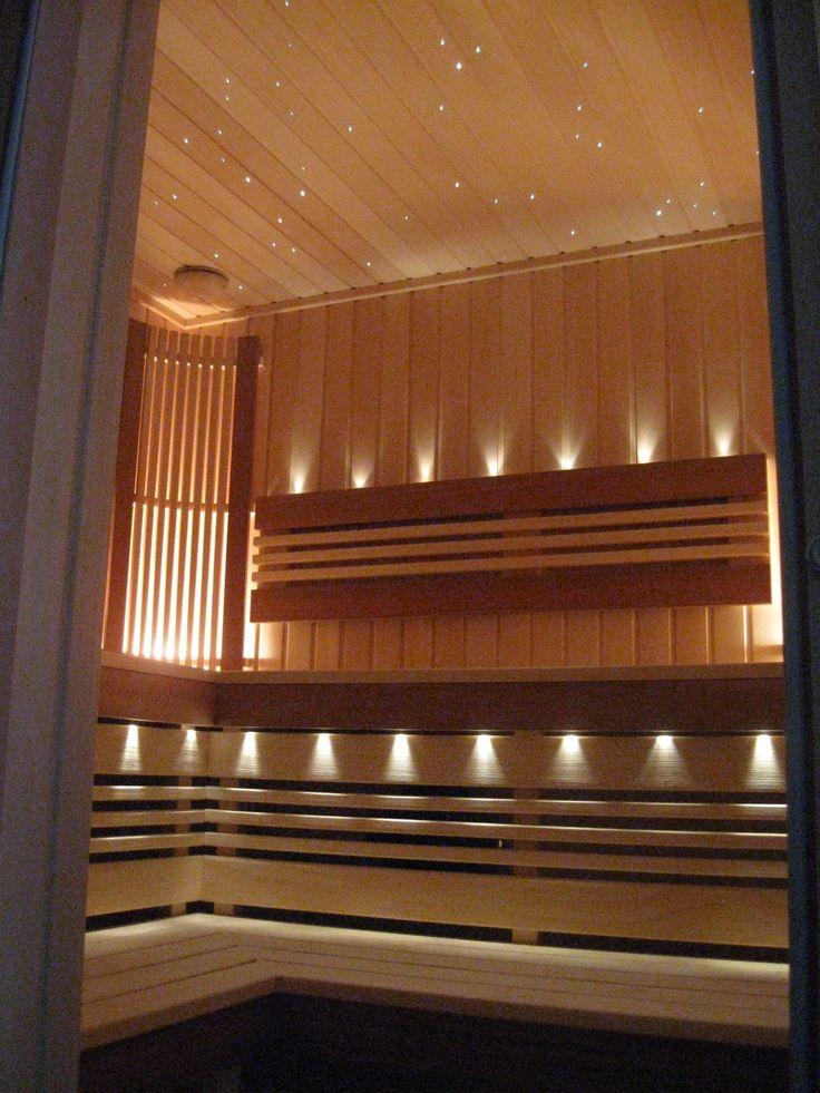 Декоративная подсветка сауны оптоволоконными светильниками Cariitti