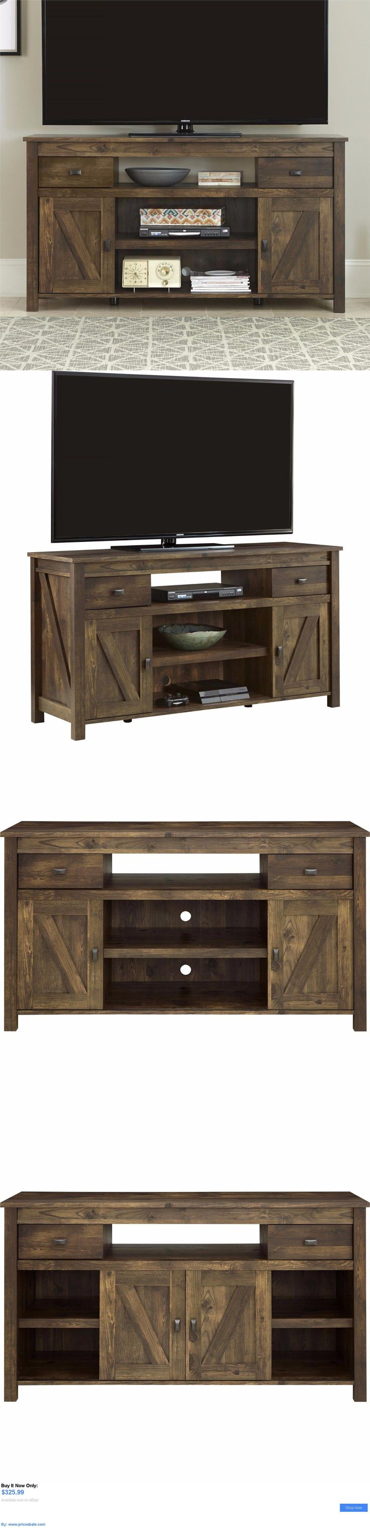 Entertainment Units, TV Stands: Rustic Tv Stand Entertainment Center Media Console Table Wood Farmhouse Barn BUY IT NOW ONLY: $325.99 #priceabateEntertainmentUnitsTVStands OR #priceabate