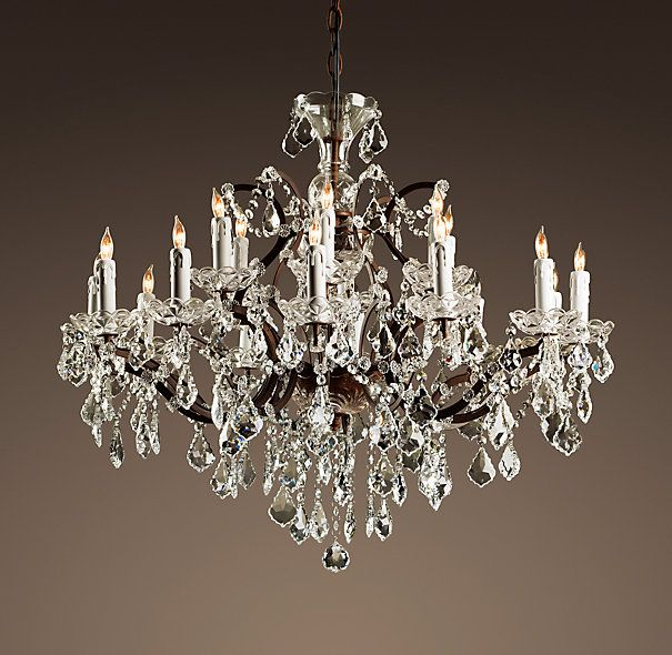 Best 25 round chandelier ideas on pinterest white light 19th c rococo iron crystal chandelier large this is the chandelier that we mozeypictures Images