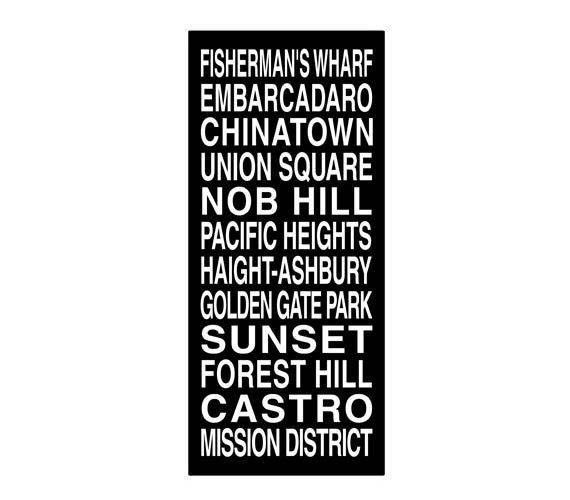 San Francisco Destination Roll / Subway Scroll / Tram Banner / Bus Schedule 22in x  50in - Ready to Hang on Etsy, $149.00