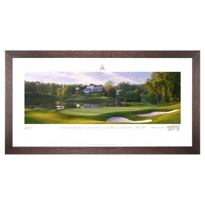 Stonehouse Framed Prestige Edition Wall Art -- Famous Golf Courses - CONGR10P