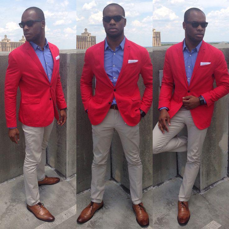 Mens Red Linen Pants