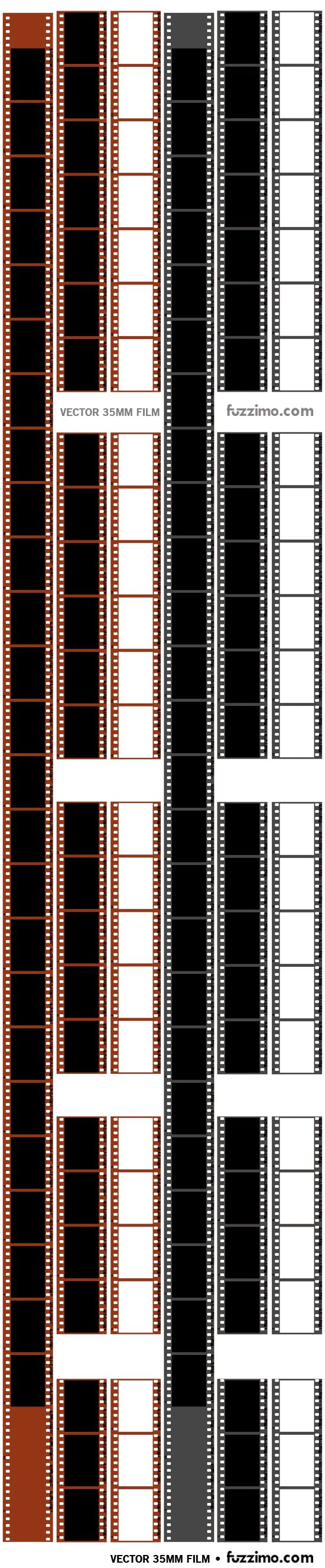Free Vector 35mm Film Strips