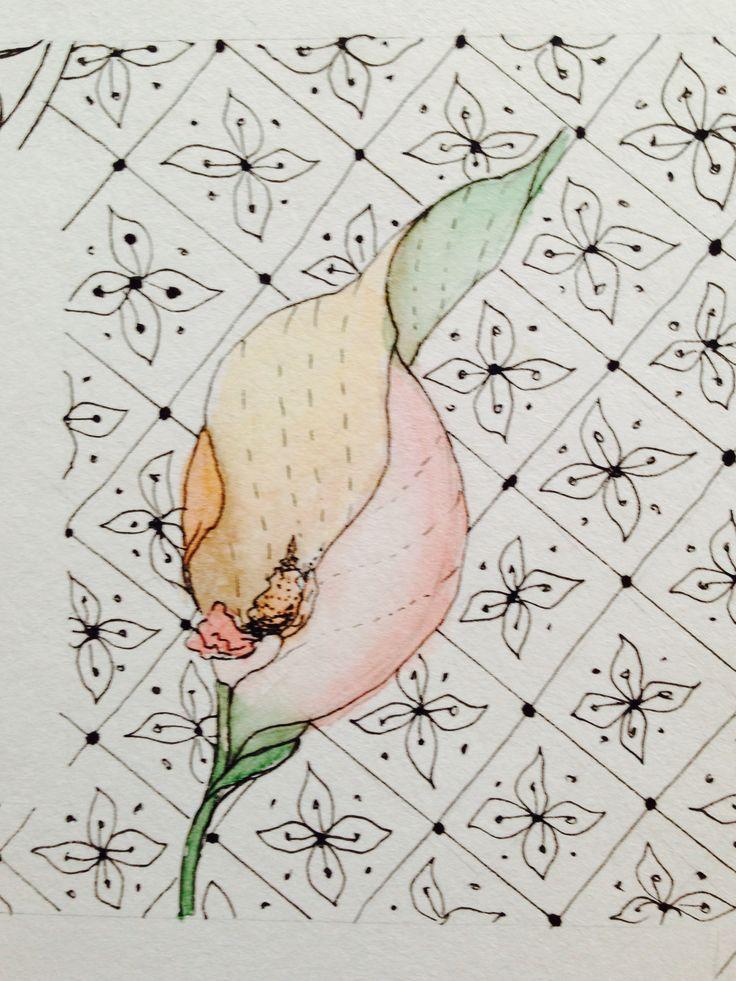 #aquarelle #aquarell #paint #flowers #scrap #scrapbooking #watercolour