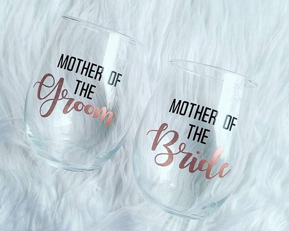 Mother of the bride wine glass  Mother of the groom wine