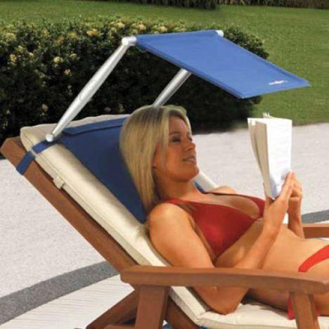 O excesso de luz solar te incomoda em alguns momentos? Com esse suporte você pode ler um livro enquanto toma um solzinho na piscina de sua casa.