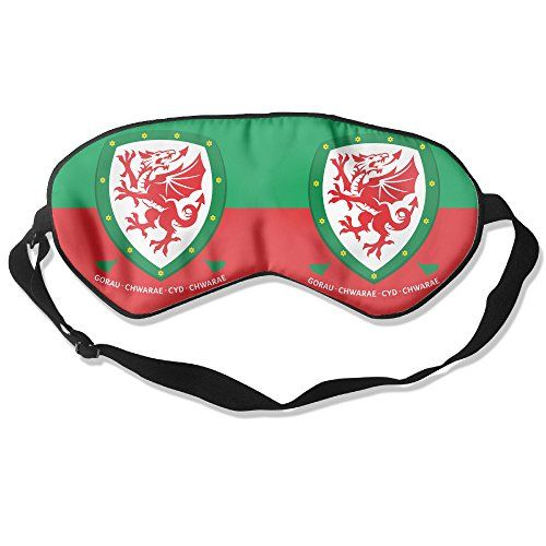 WLHZQS UEFA Eurocopa Wales Football Team Logo Natural Silk Eye Mask (without Ice Bag) -- You can get additional details at the image link.