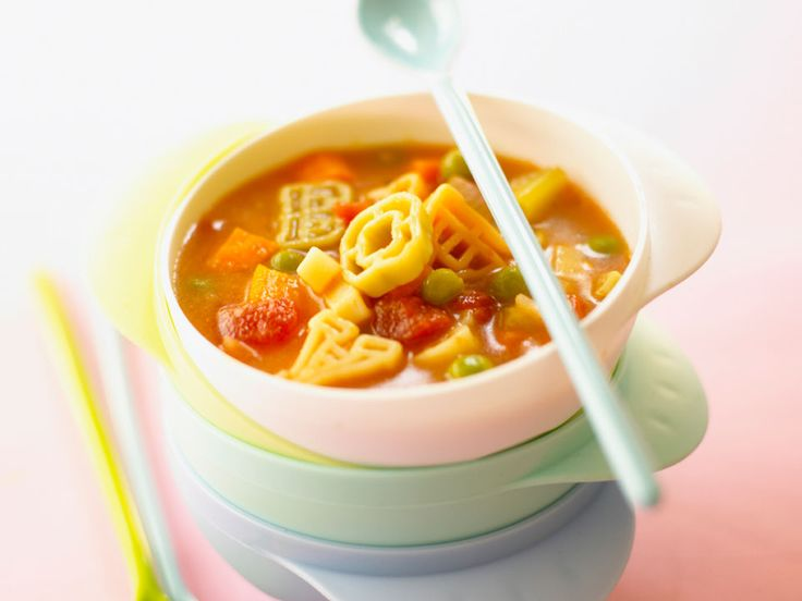 The vegetables in minestrone soup add texture but are nice and soft for your baby to chew. However for younger babies you could blend this soup to the desired texture. Add a little seasoning and some extra stock yo make this a delicious soup for the rest of the family.