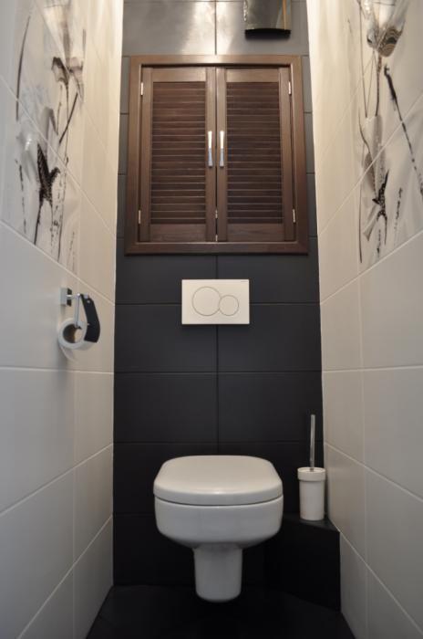 Ремонт санузла, фото ванной отделка, подвесной унитаз в туалете