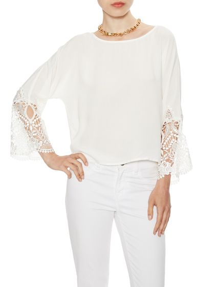 Madelyn Boxy Top with Lace Trim