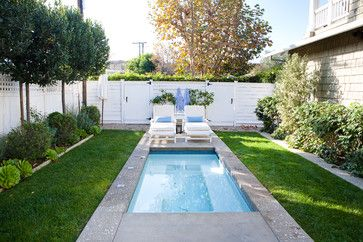 Who says you can't fit a pool in your yard?  Can You Squeeze an Outdoor Retreat onto a Small Lot?