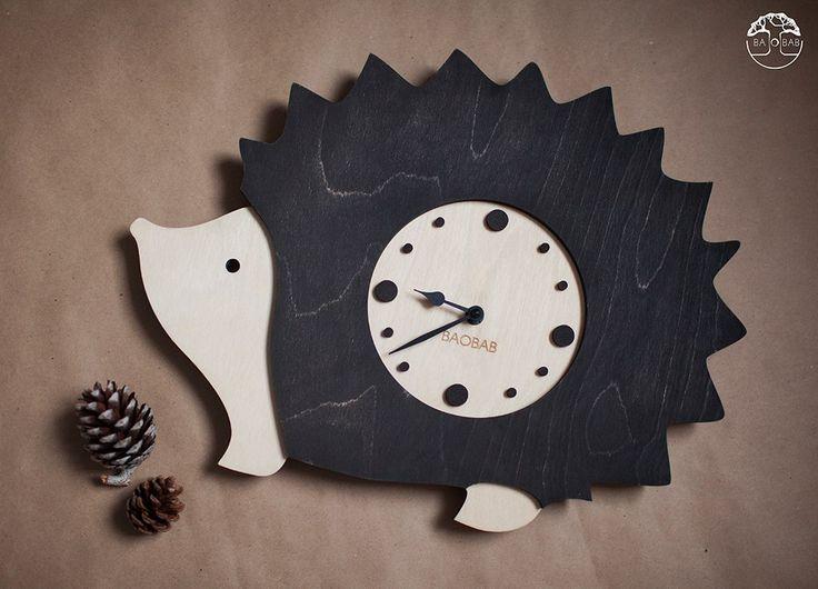 """Wooden wall clock """" Hendehog"""" by BAOBAB"""