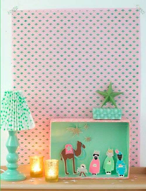pesebre navideo hecho con papel christmas decorations crafts diy pesebre