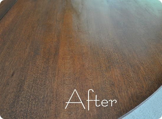 Refinish wood table