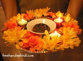 DIY Mehndi Thali (Wedding Henna Plate)