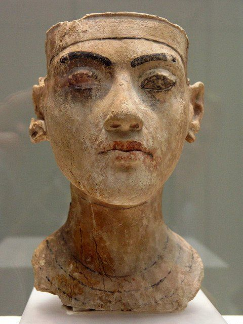 Head of a statue of king Tutankhamun
