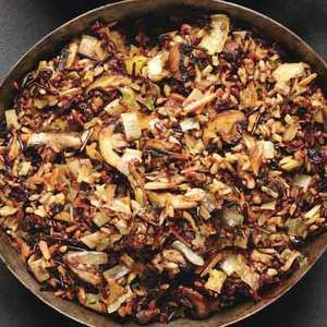 Wild Rice and Mushroom Stuffing - a hearty side dish for the ...