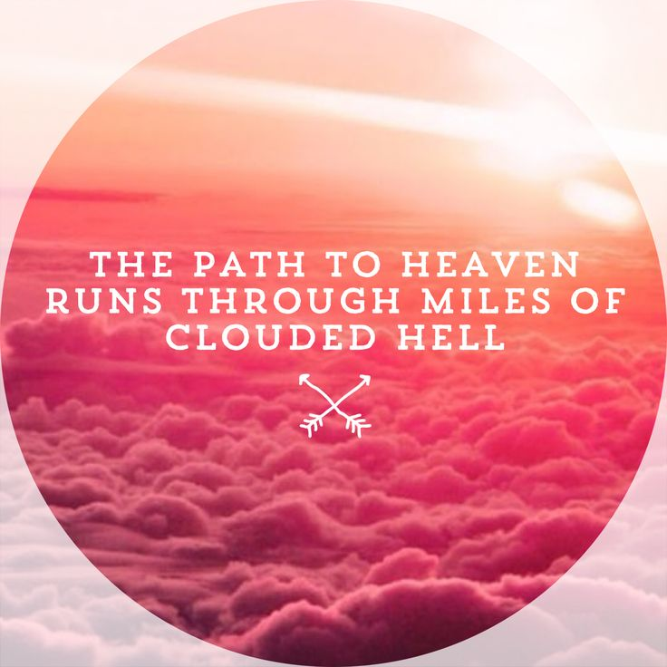 """""""The path to Heaven runs through miles of clouded hell""""  Possibly the most meaningful lyric on the whole album to me"""