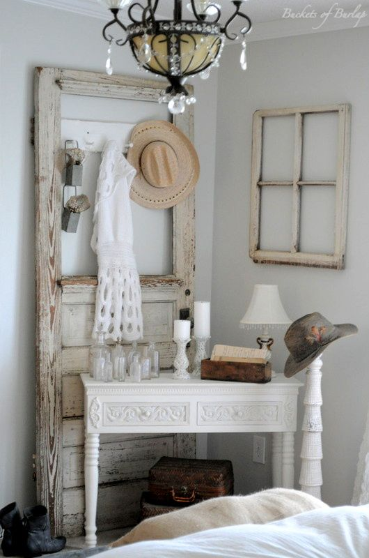 I love decorating with old doors!