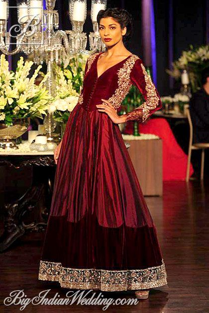 Manish Malhotra velvet floor-length anarkali