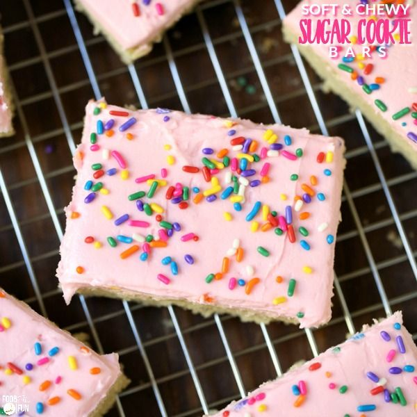 These Soft and Chewy Sugar Cookie Bars are so good, and they taste better than the popular store-bought sugar cookies. They're easy to make, and this recipe makes a ton!