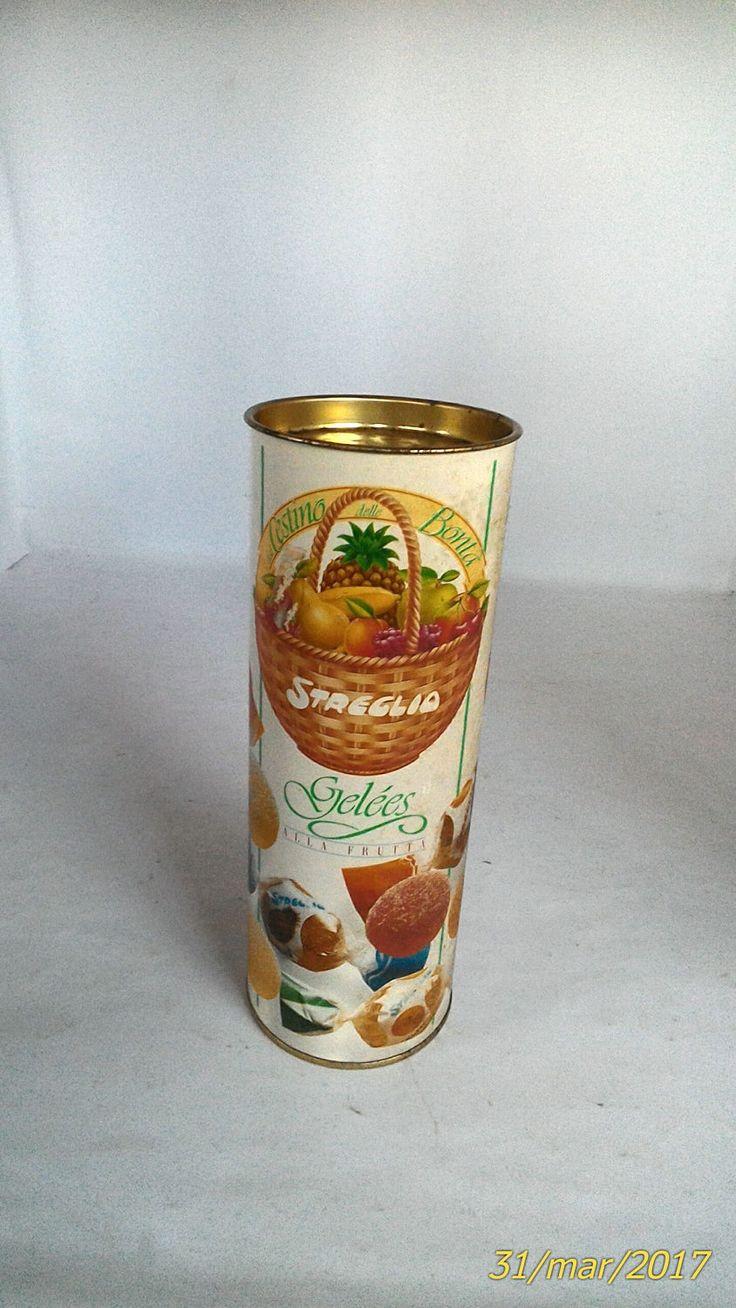 Scatola in cartone cilindrica -caramelle streglio-gelées-pubblicità anni 70/80-collezionismo scatole- collezionismo pubblicitario di lovelymore su Etsy
